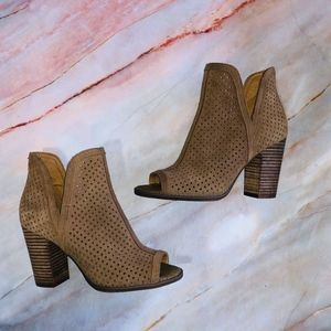 Lucky Brand Larise Perforated Suede Ankle Boots